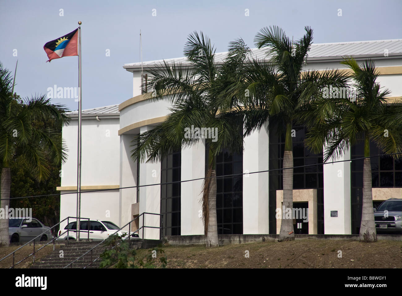 High Court of Justice St Johns Antigua - Stock Image