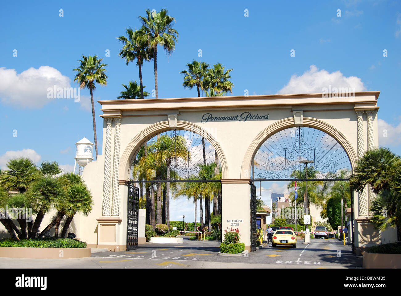 Entrance to Paramount Studios, Melrose Avenue, Hollywood, Los Angeles, California, United States of America Stock Photo
