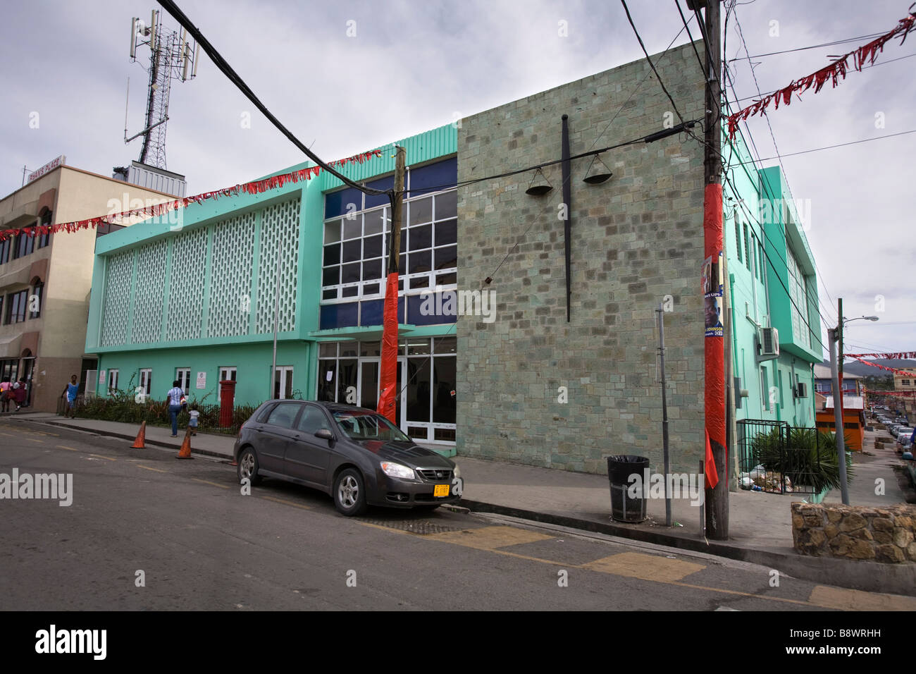 Magistrate's Court St.Johns Antigua - Stock Image