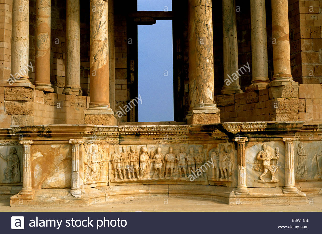 sabratha, the theatre, lybia, africa - Stock Image