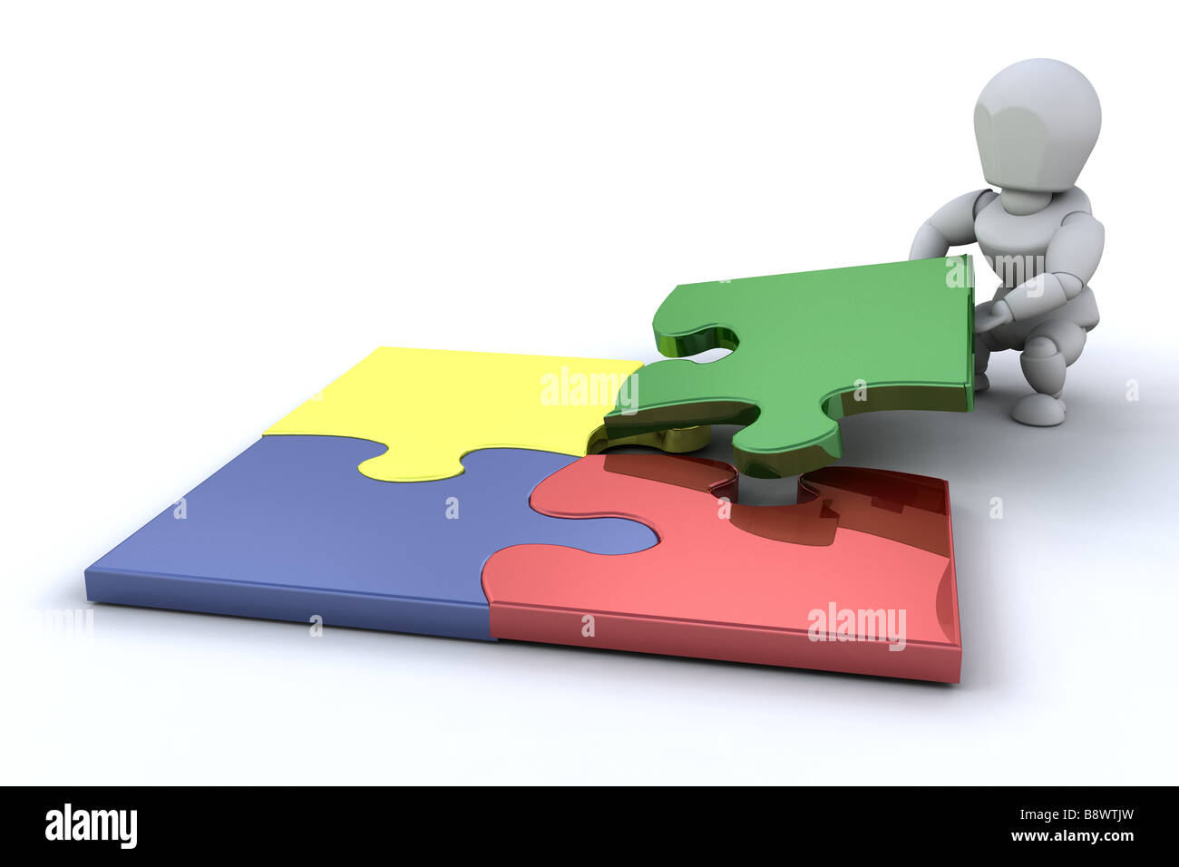 someone connecting puzzle pieces stock photo 22695761 alamy