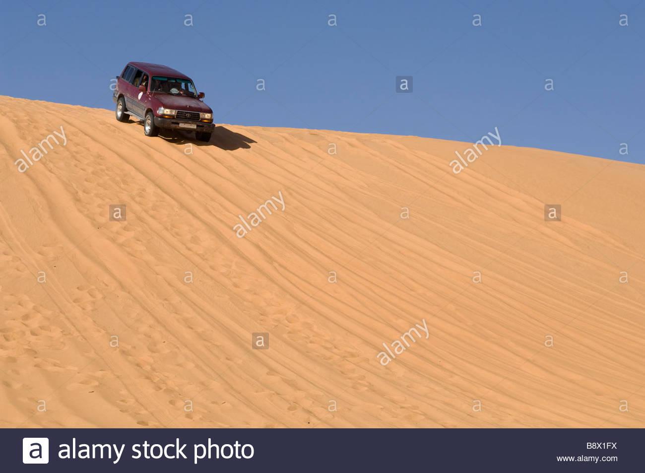 erg awbari, sahara desert, fezzan, libya, africa - Stock Image