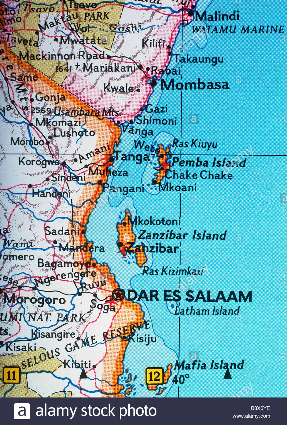 Map Of Africa Zanzibar.Zanzibar Tanzania Africa Stock Photo 22703842 Alamy