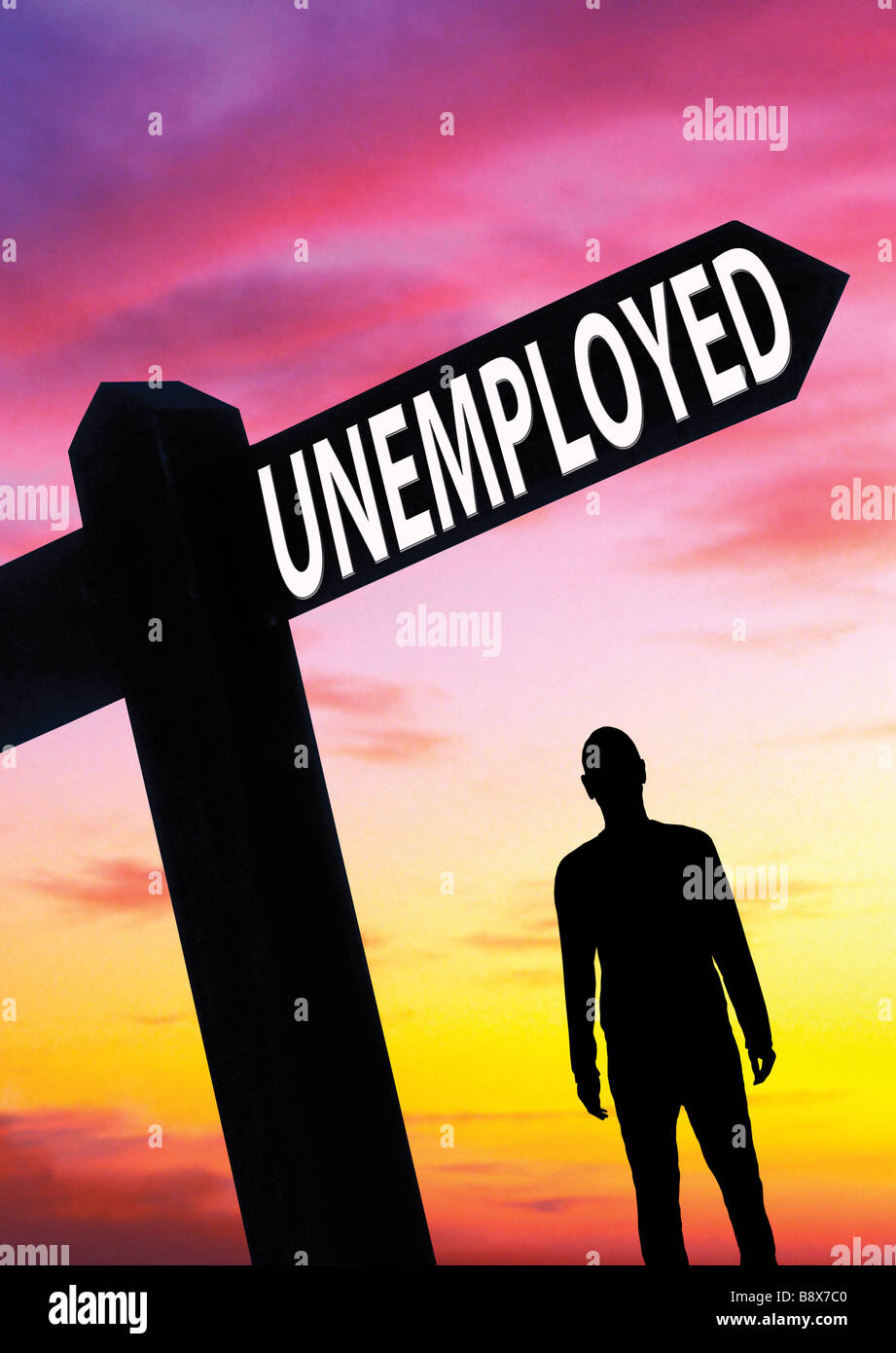 unemployed man Unemployment concept - Stock Image