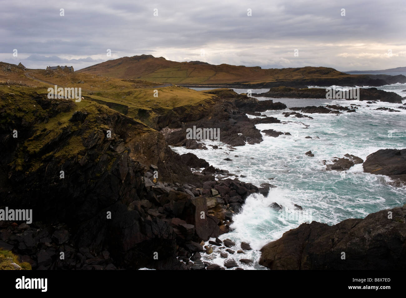 Atlantic Drive Achill Island Co Mayo Ireland Stock Photo