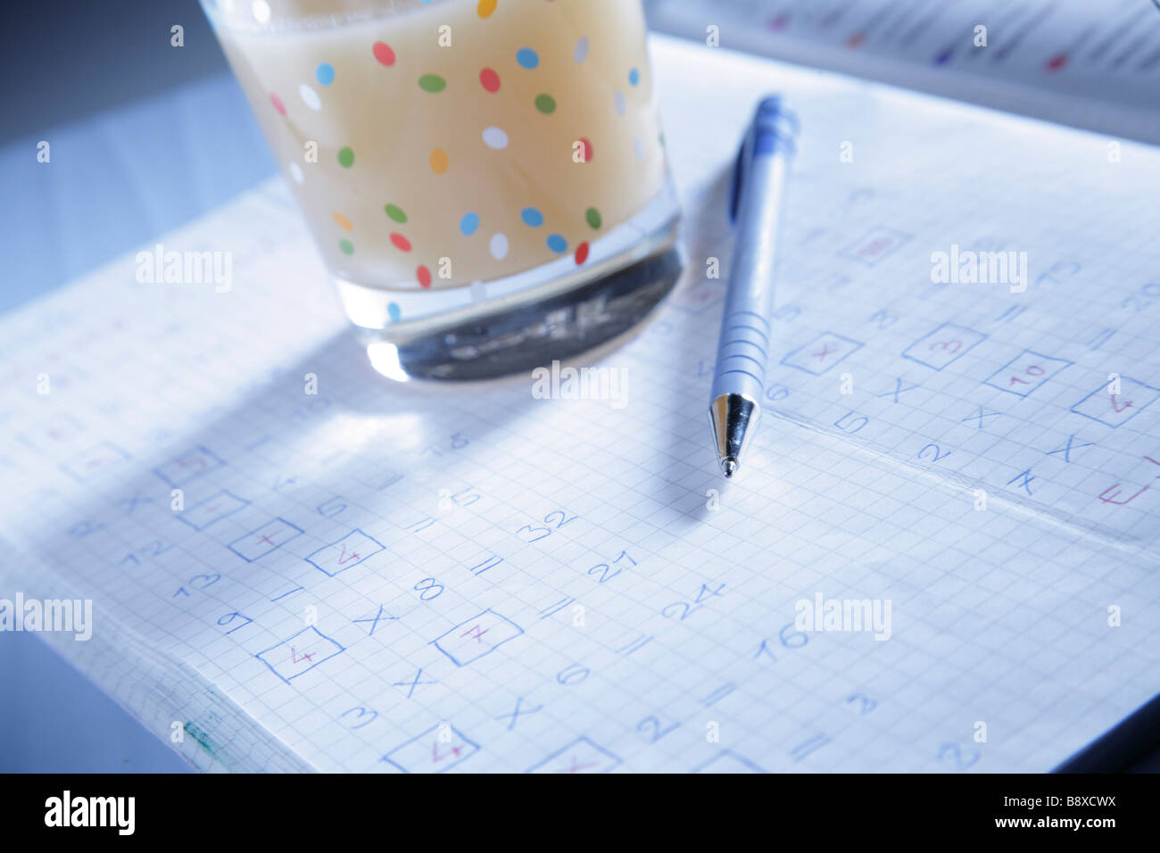 exercise book - Stock Image