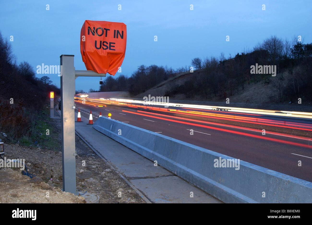 Speed camera not in use speeding road traffic accidents revenue raisers safety cameras motorists  broken speed camera - Stock Image