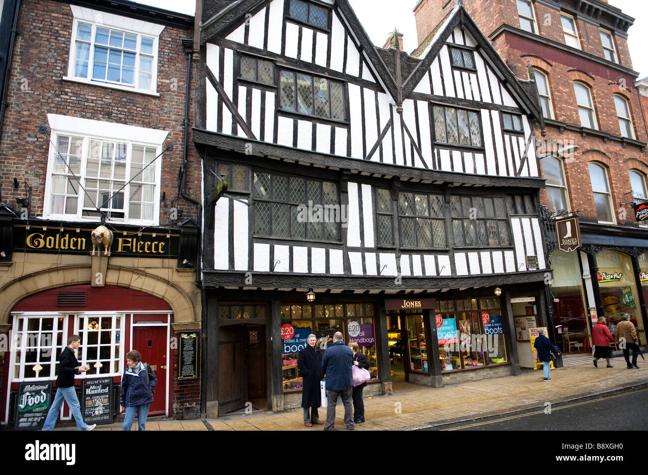 Shops in Pavement York FOR EDITORIAL USE ONLY - Stock Image