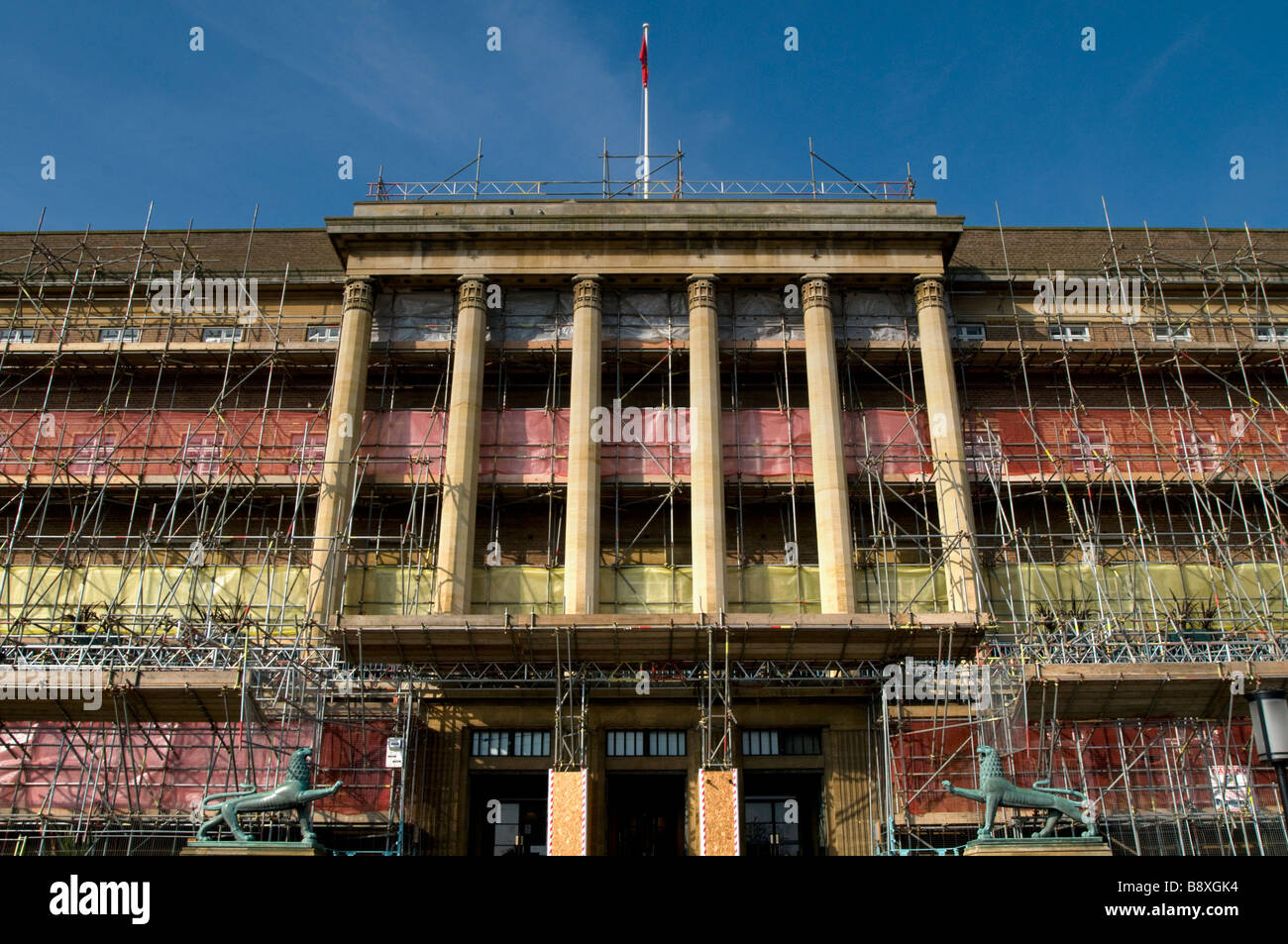 Scaffolding Around Norwich City Hall. UK - Stock Image