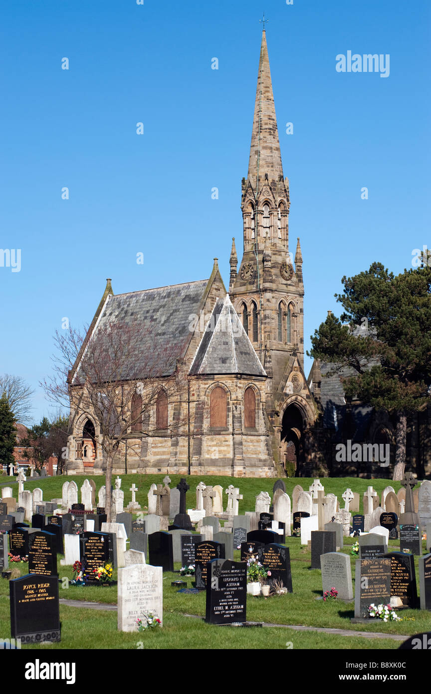 """Boarded up Cemetery Building, Bridlington, """"East Yorkshire"""",England 'Great Britain' Stock Photo"""