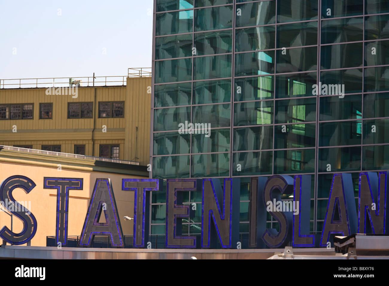 Staten Island Ferry Terminal Battery Park Lower Manhattan New York NY - Stock Image