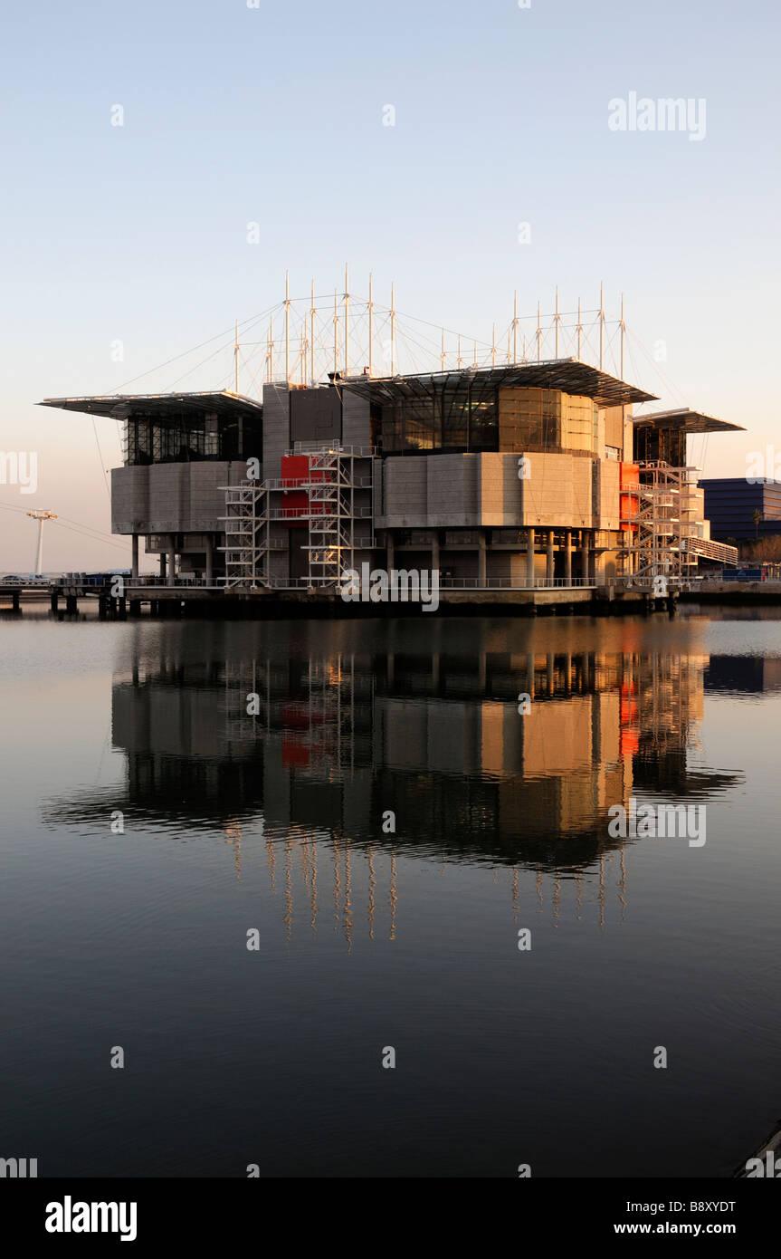 The Oceanarium biggest largest in Europe Parque das Nacoes Park of Nations Lisbon Portugal Europe Stock Photo