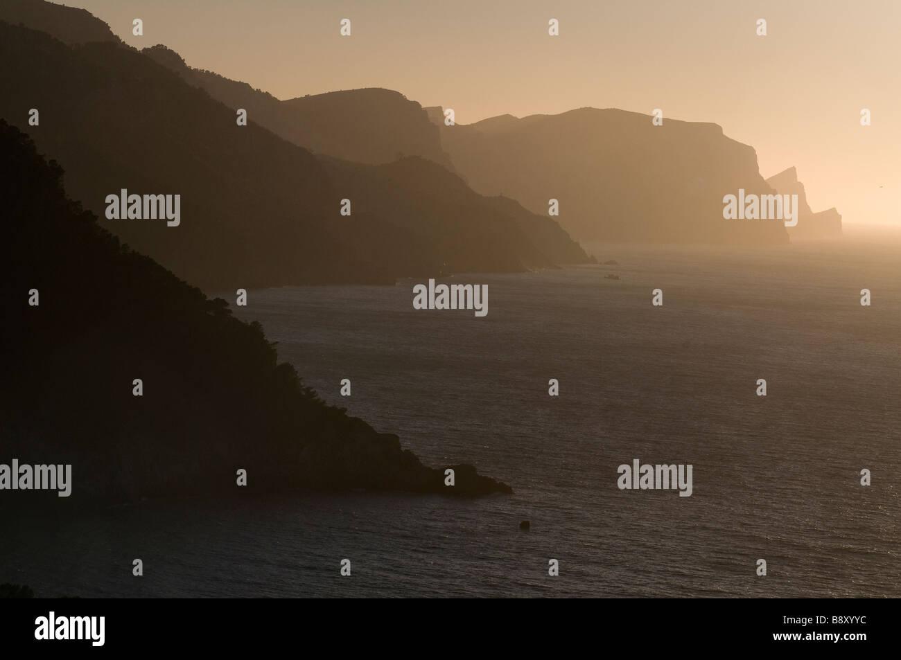 Europe Spain Balearic Islands Majorca north west coast near Sa Punte des Verger - Stock Image