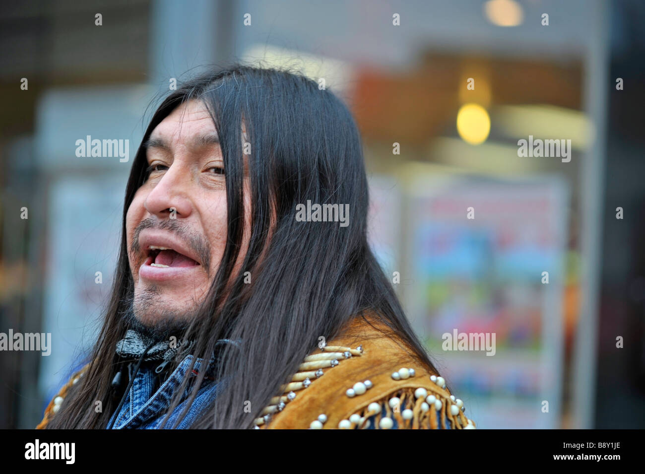 Wayra Traditional Incan Music Busker Inca Native American Long Hair