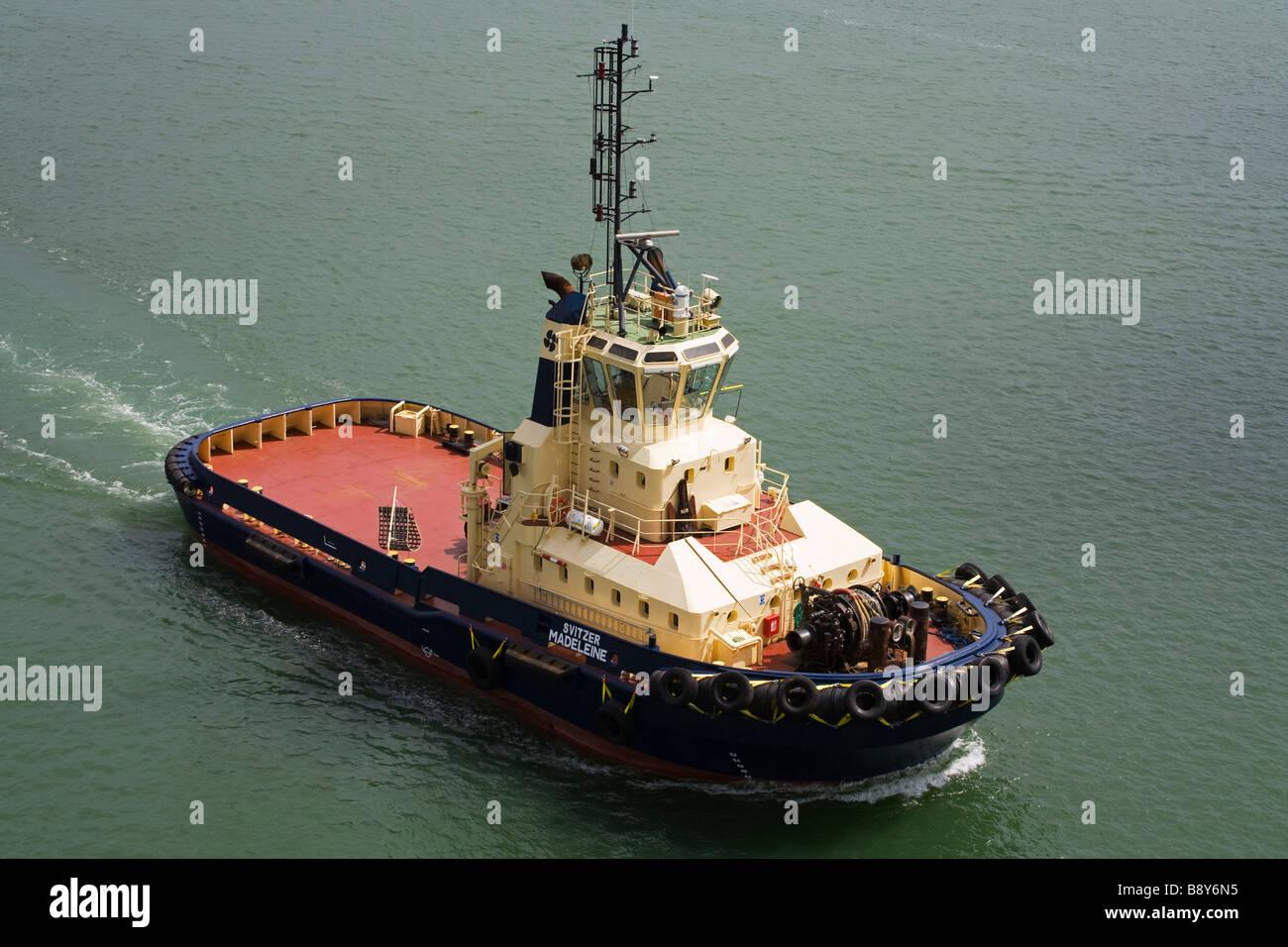 Tug Boat, Port of Southampton, Hampshire County, England, Great Britain - Stock Image
