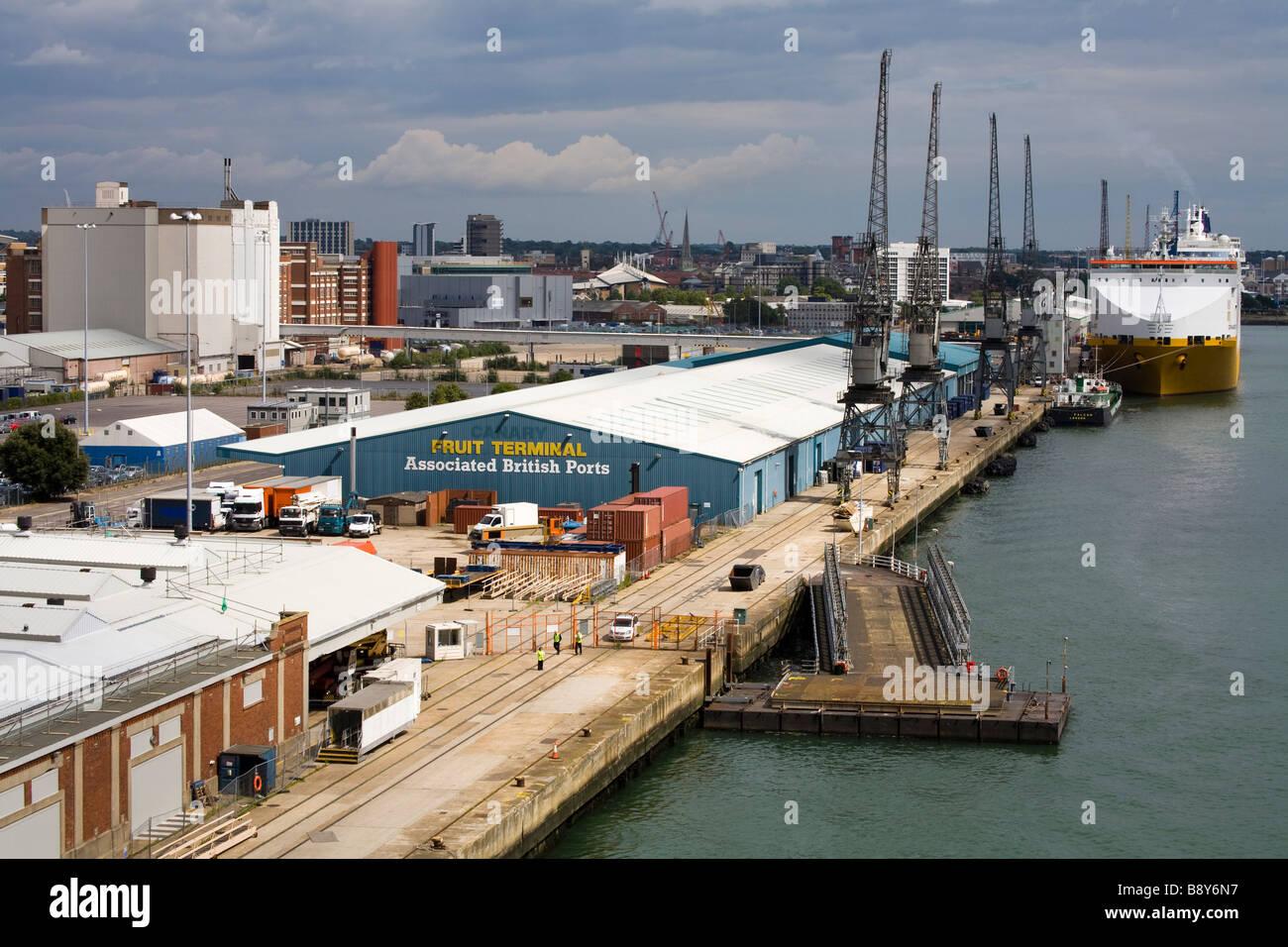 Port of Southampton, Hampshire County, England, United Kingdom - Stock Image