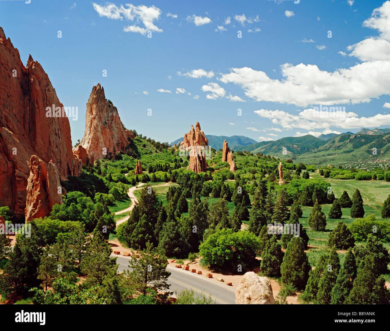 USA COLORADO SPRINGS GARDEN OF THE GODS - Stock Image
