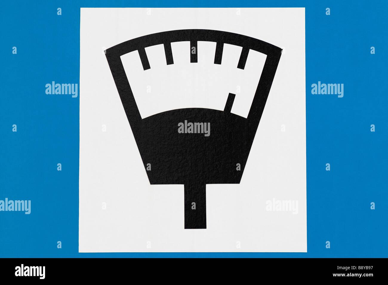 Parking Meter Sign Close Up - Stock Image