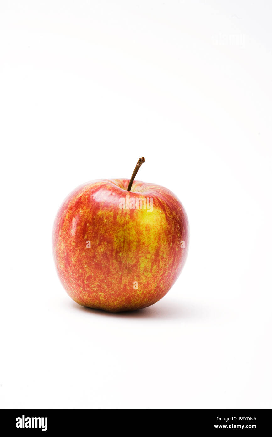 A red apple close-up. - Stock Image