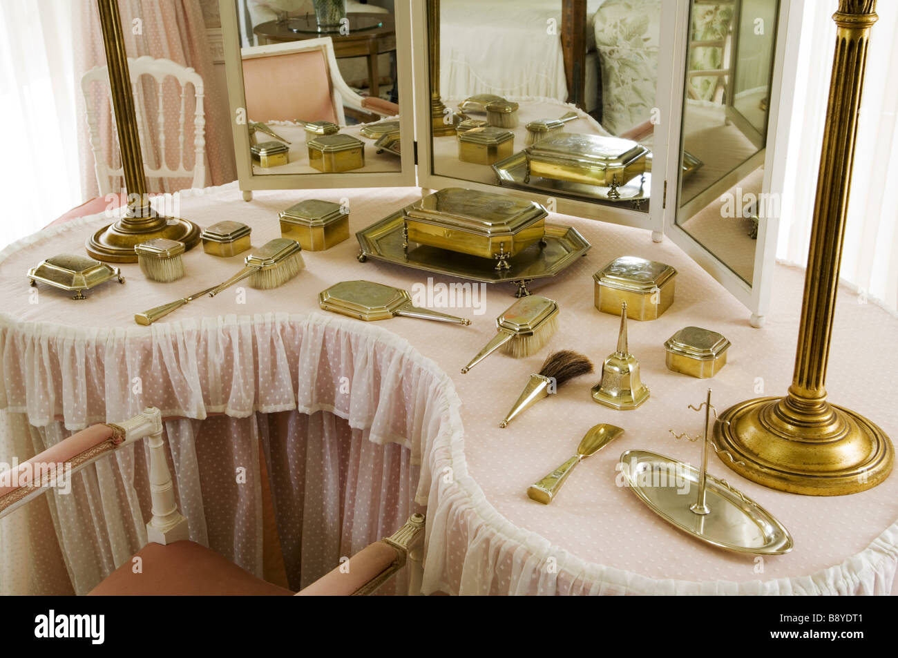 The Kidney Shaped Dressing Table In Lady Anglesey S Bedroom At Plas Newydd  On The Isle Of Anglesey Wales