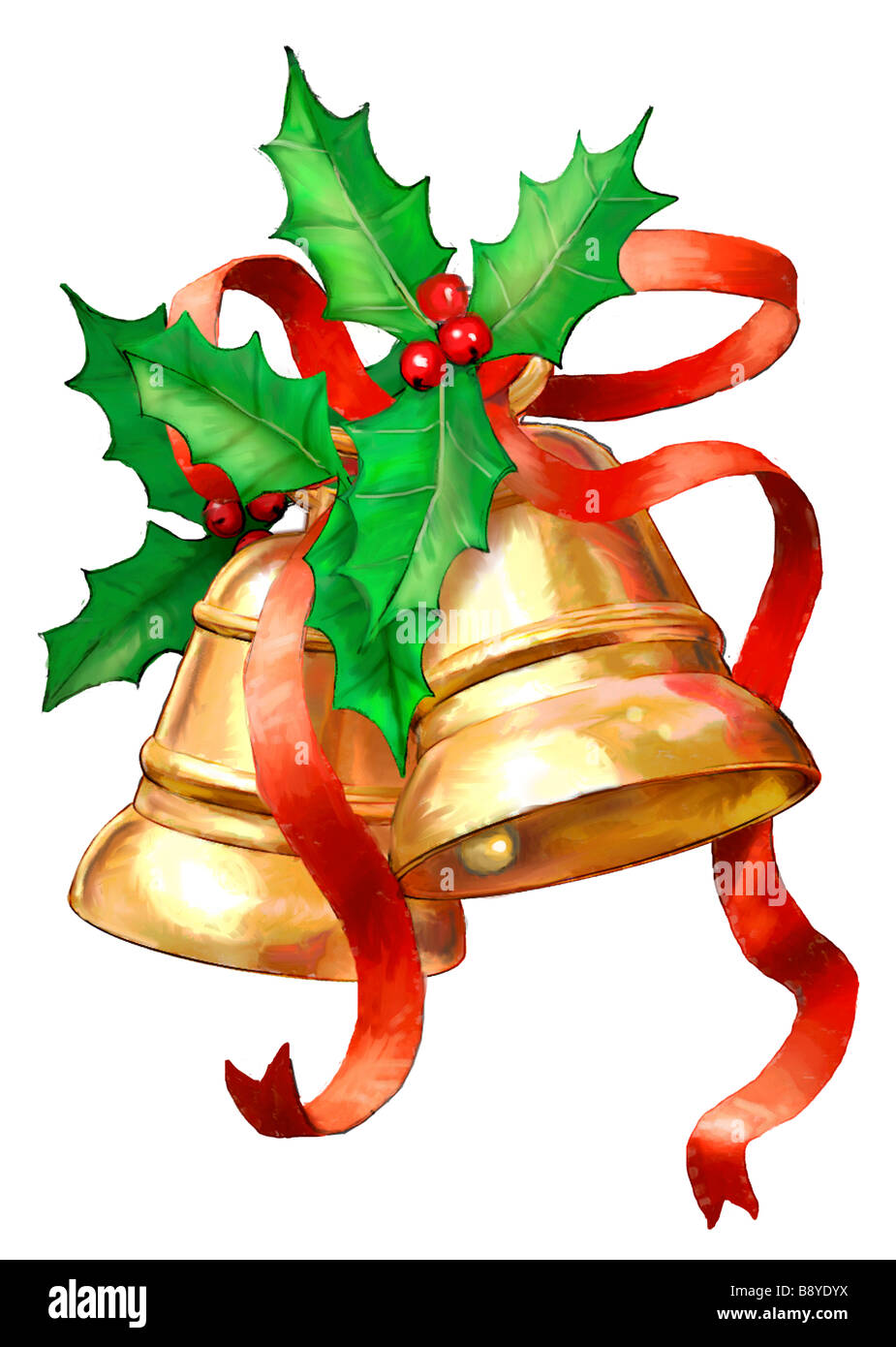 Christmas Bells Images.Christmas Bells With Holly Stock Photo 22731294 Alamy
