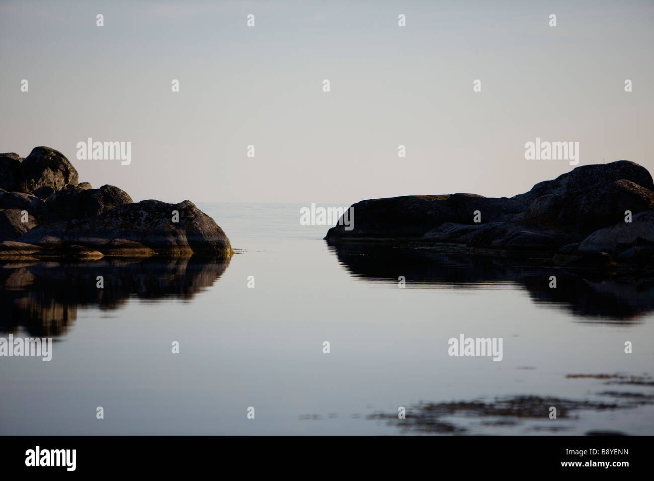 Two islands Stockholm archipelago Sweden. Stock Photo