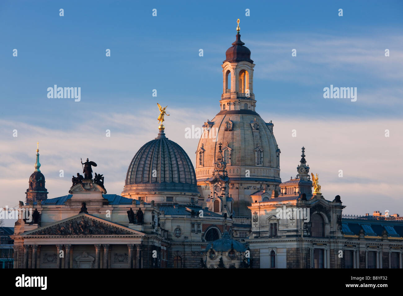 Dome of the Frauenkirche Dresden Saxony Germany Stock Photo