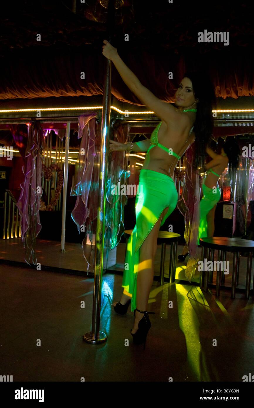 'lap dancer' 'pole dancer' 'strip club' stripper - Stock Image