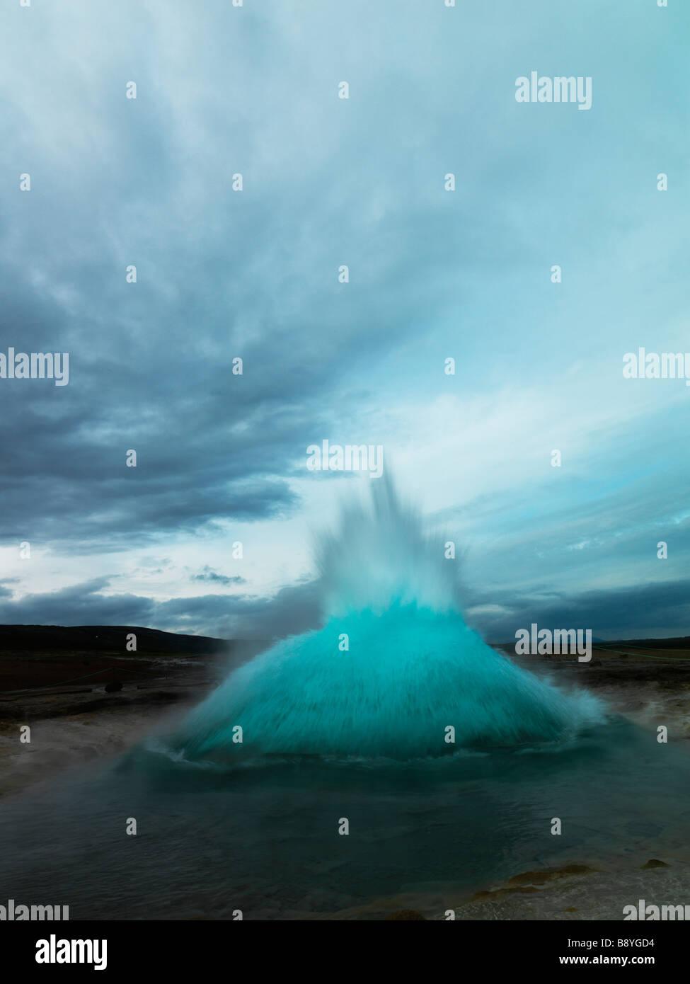 Strokkur geyser Iceland. - Stock Image
