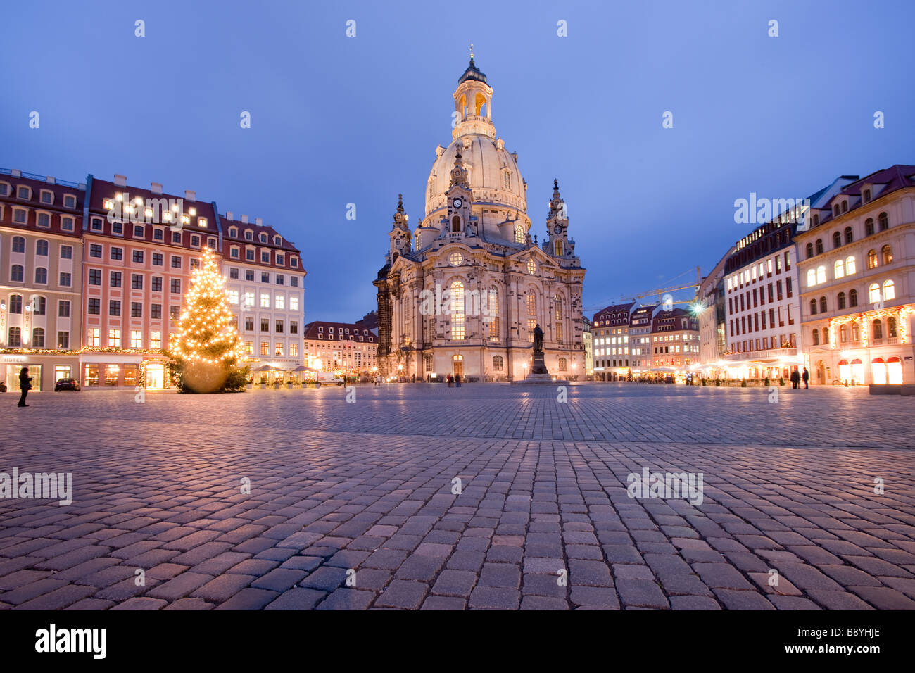 Church of our lady Frauenkirche Dresden Saxony Germany Stock Photo