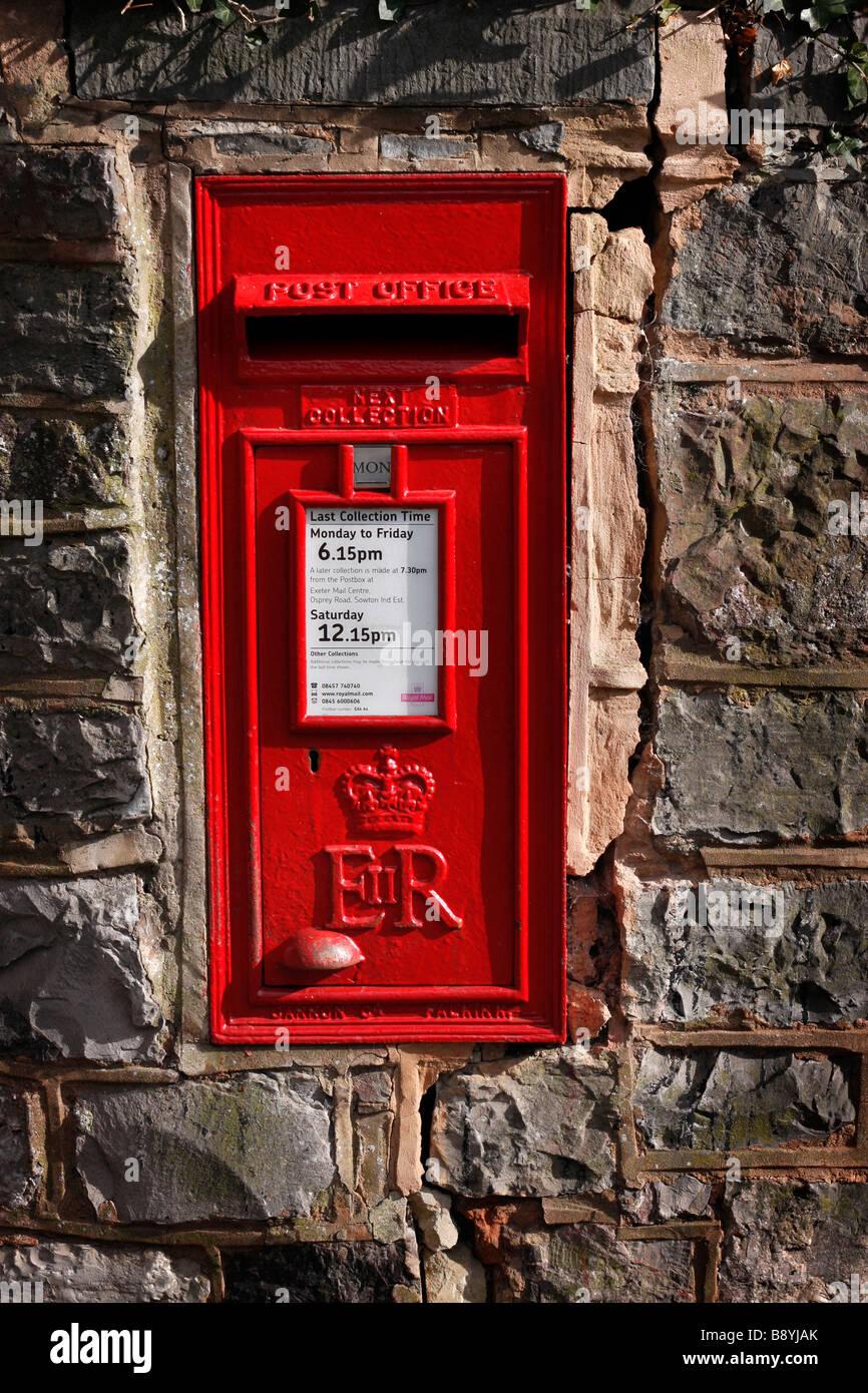 Post Box in Exeter, Devon, UK - Stock Image