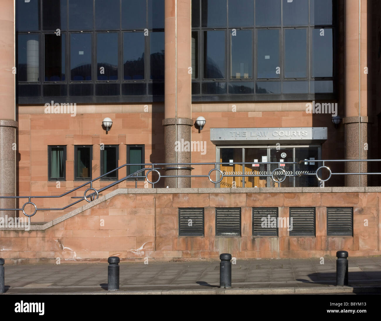 Newcastle Law Courts Entrance - Stock Image