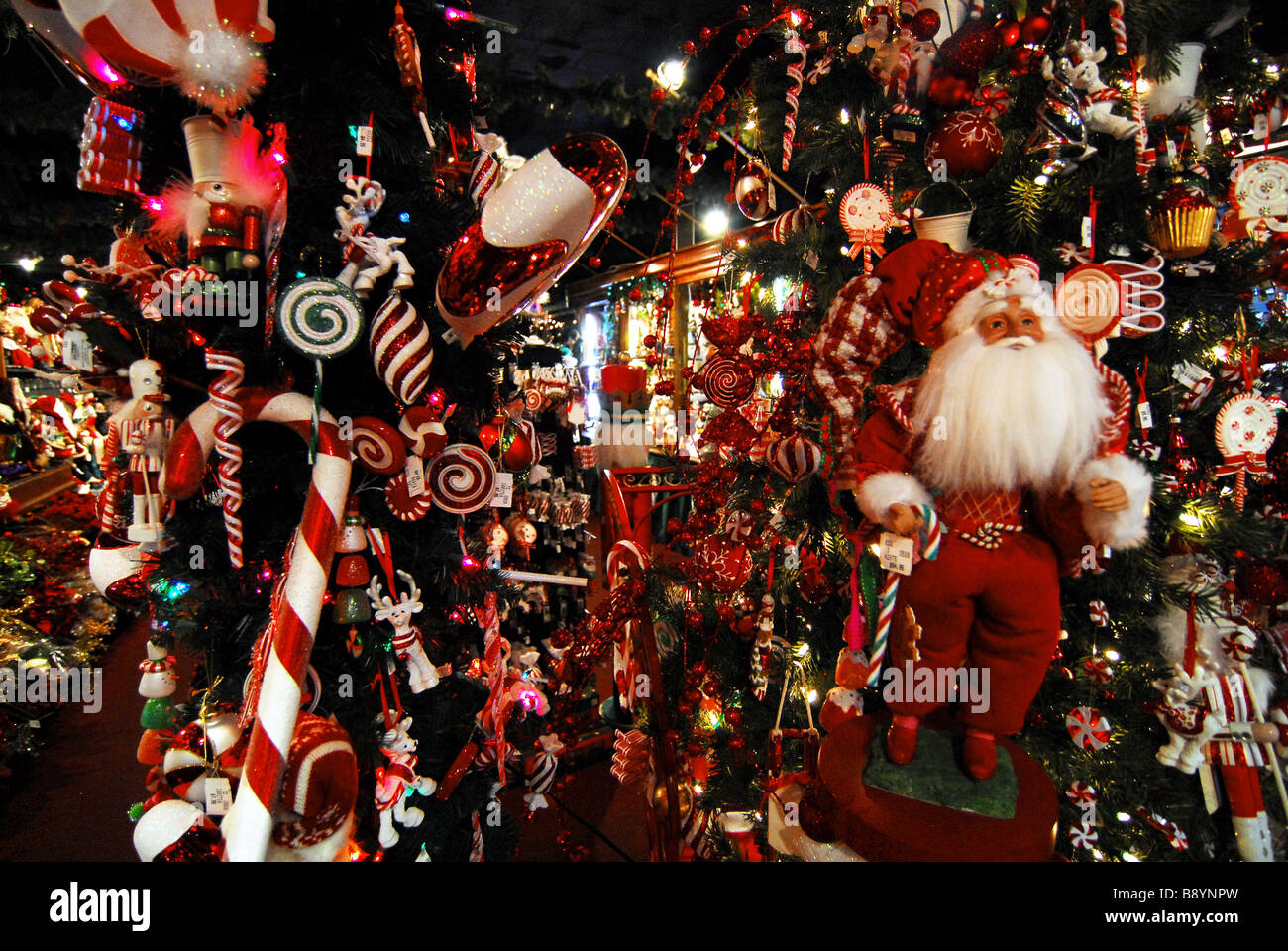 Christmas decoration, New Orleans, Louisiana, United States of Stock ...