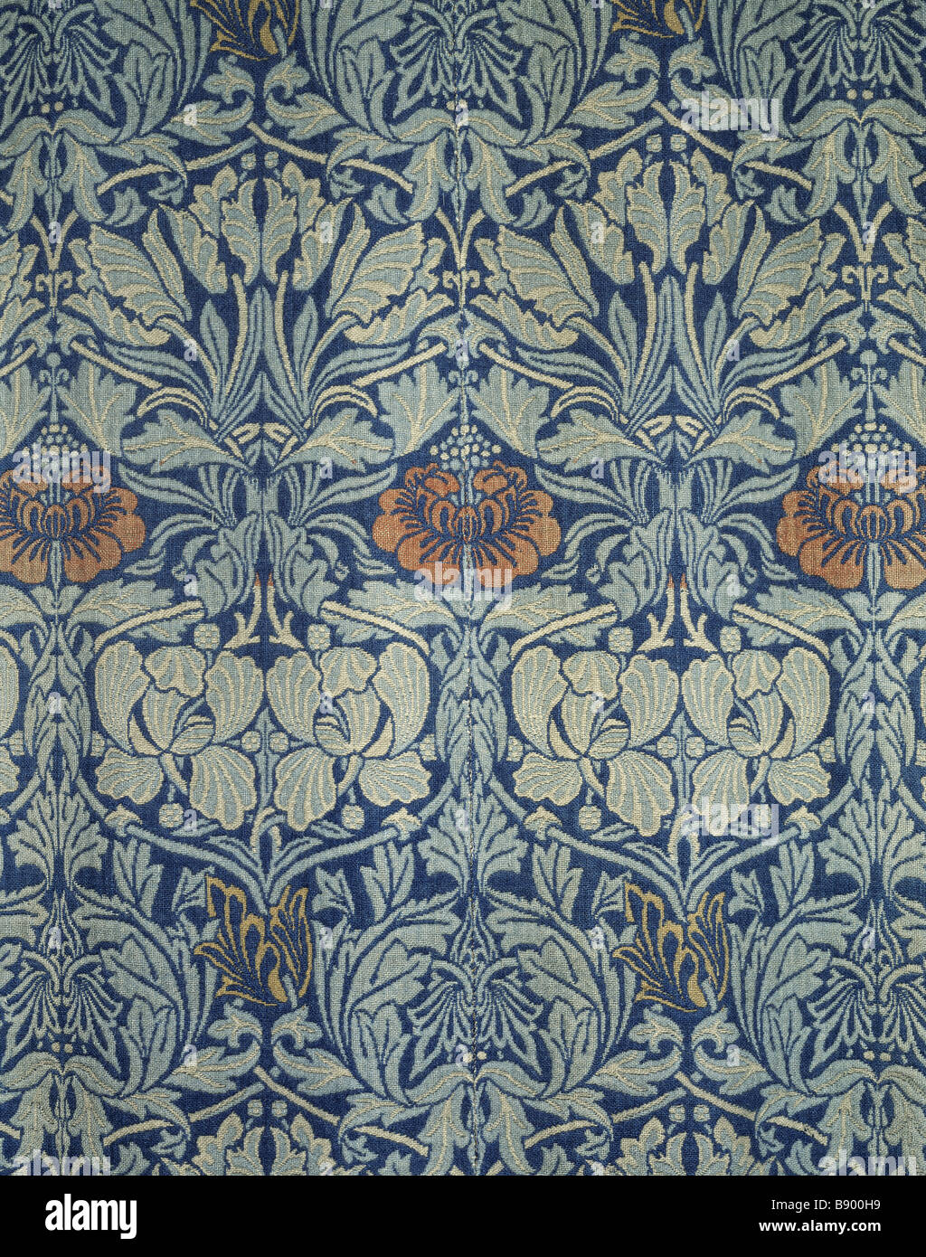Close View Of Tulip And Rose Wool Curtains By William Morris In The Great Parlour At Wightwick Manor
