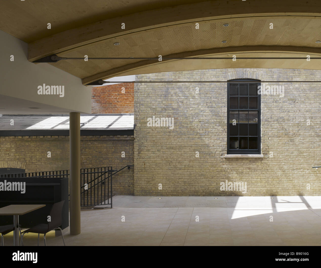 Covered area at the Theatre Royal, Bury St Edmunds, Suffolk. Stock Photo