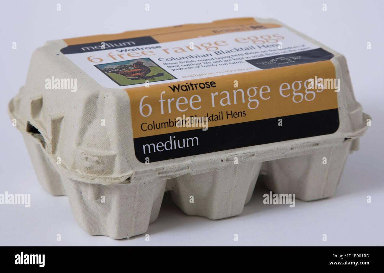 waitrose free range eggs - Stock Image