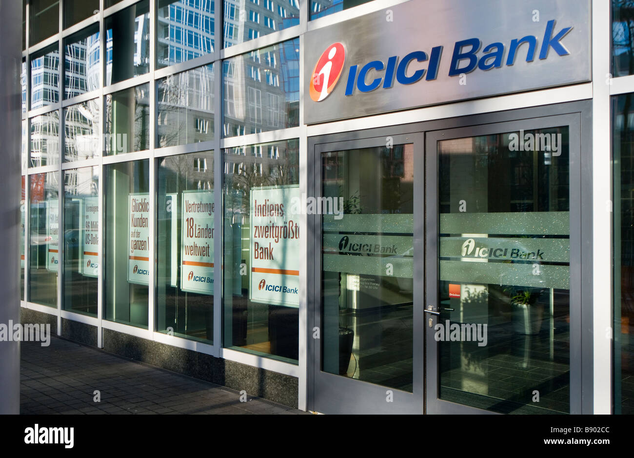 Europe Germany Frankfurt on the Main Downtown Financial district the ICICI Bank - Stock Image