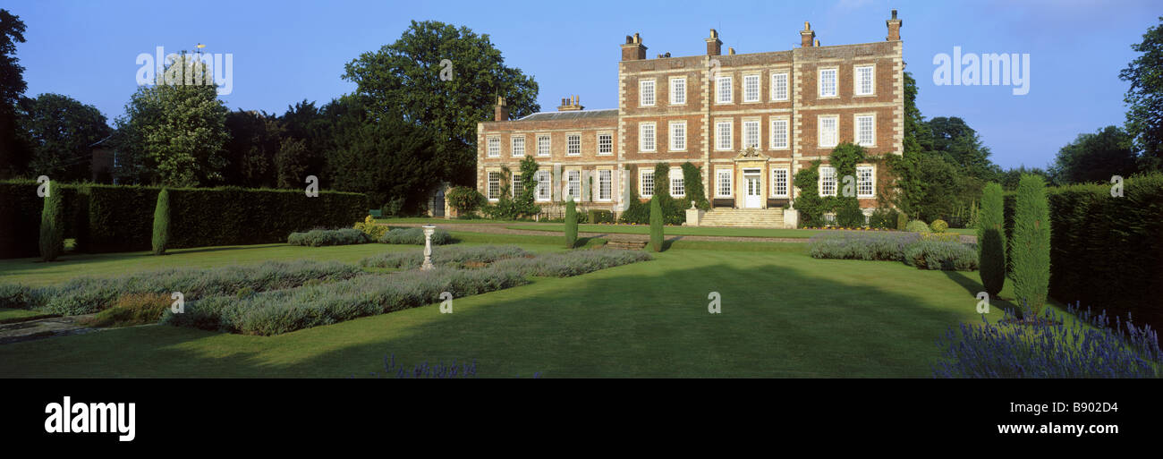 Eighteenth century Gunby Hall in Lincolnshire - Stock Image