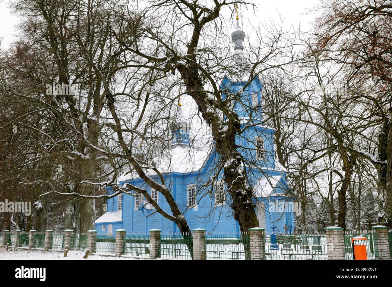 Orthodox church, Werstok, Podlaskie Voivodeship, Poland - Stock Image