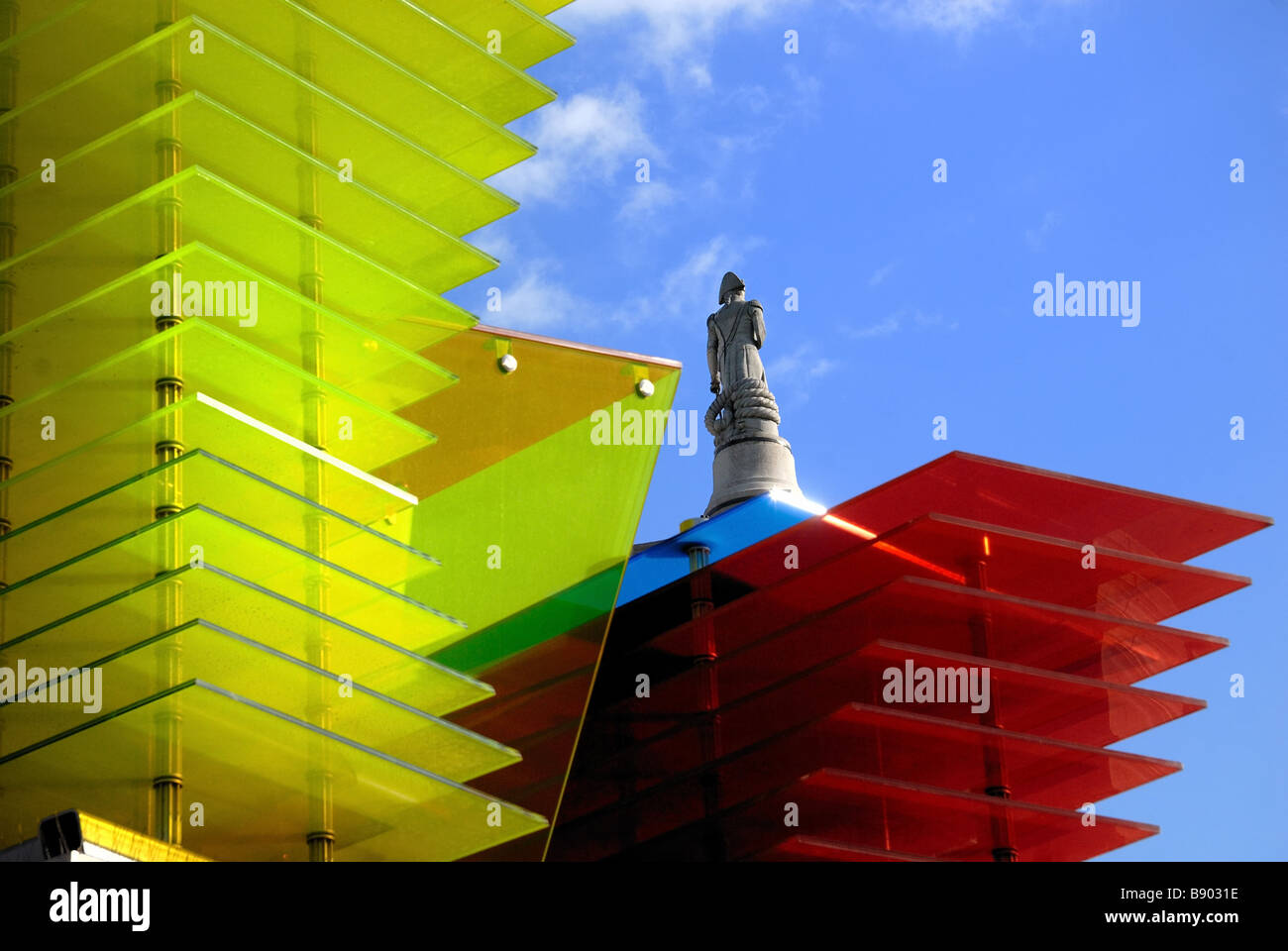 Abstract sculpture on fourth plinth Trafalgar Square London UK - Stock Image