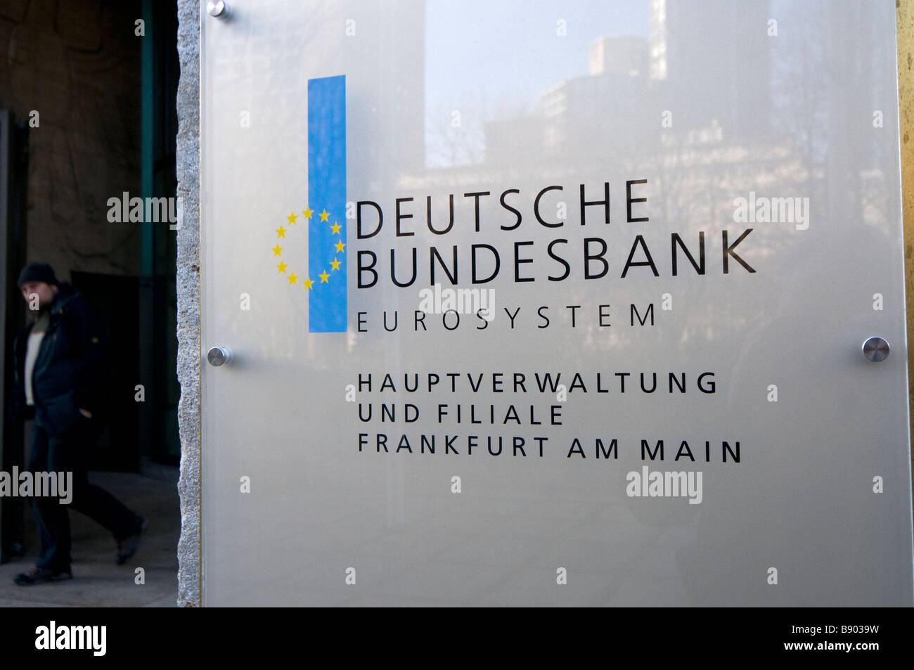 Europe Germany Frankfurt on the Main Downtown Financial district German Central Bank administrative center and branch - Stock Image