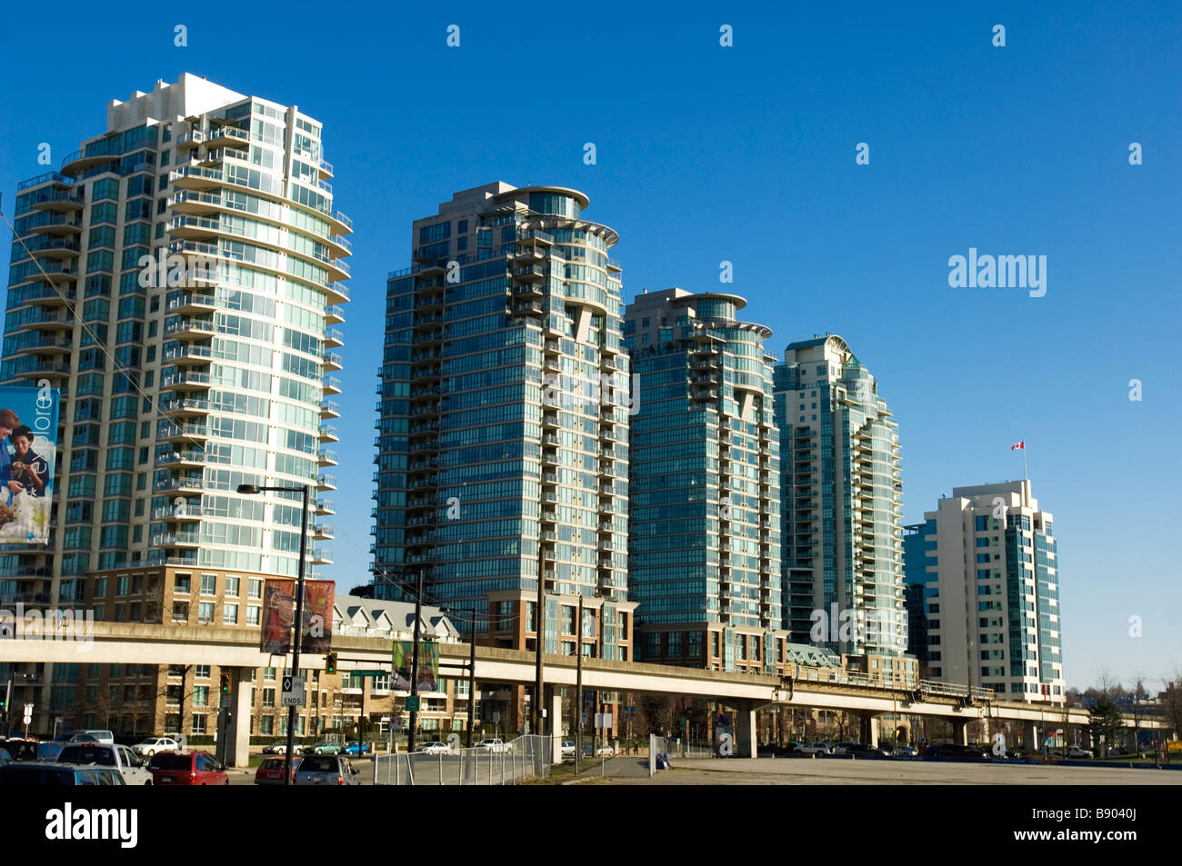 Condominium towers in Vancouver - Stock Image