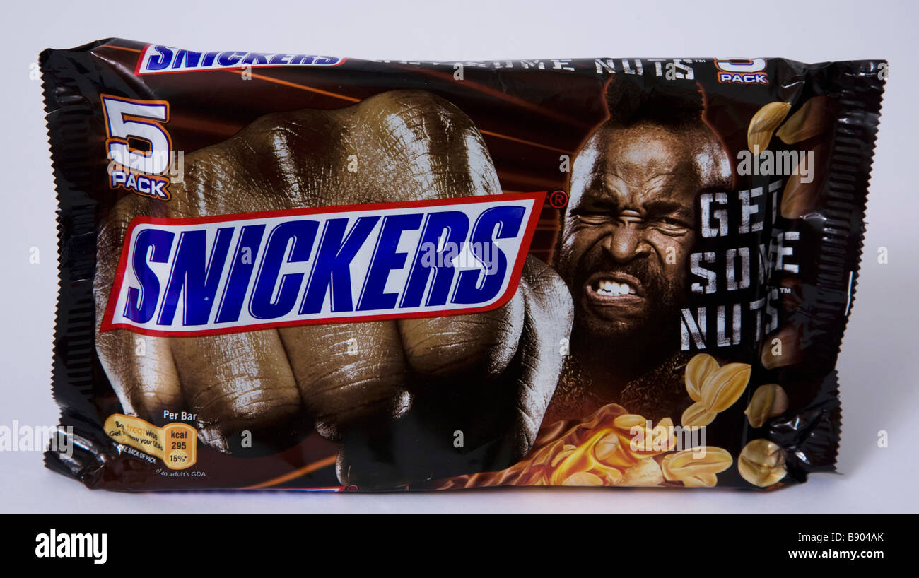 MR T BA snickers pack bar - Stock Image