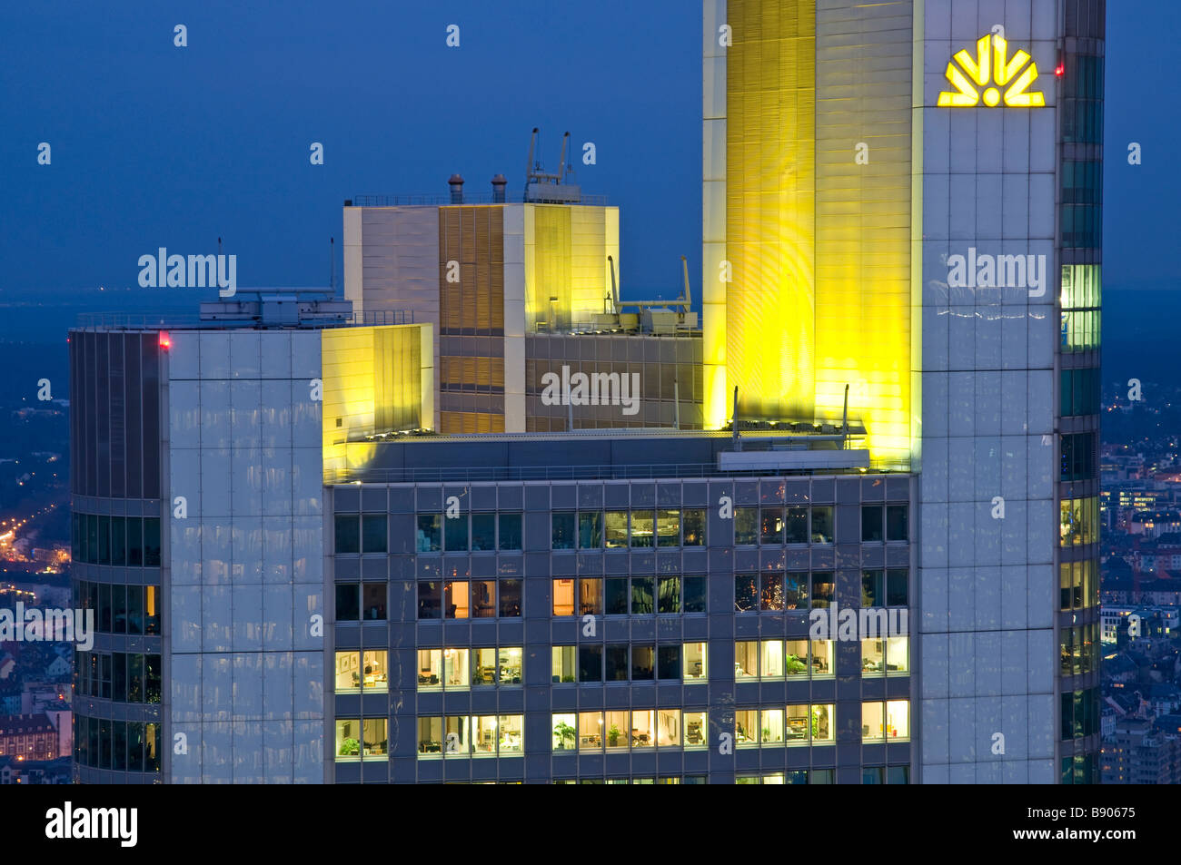 Europe Germany Frankfurt on the Main downtown financial district Commerzbank - Stock Image