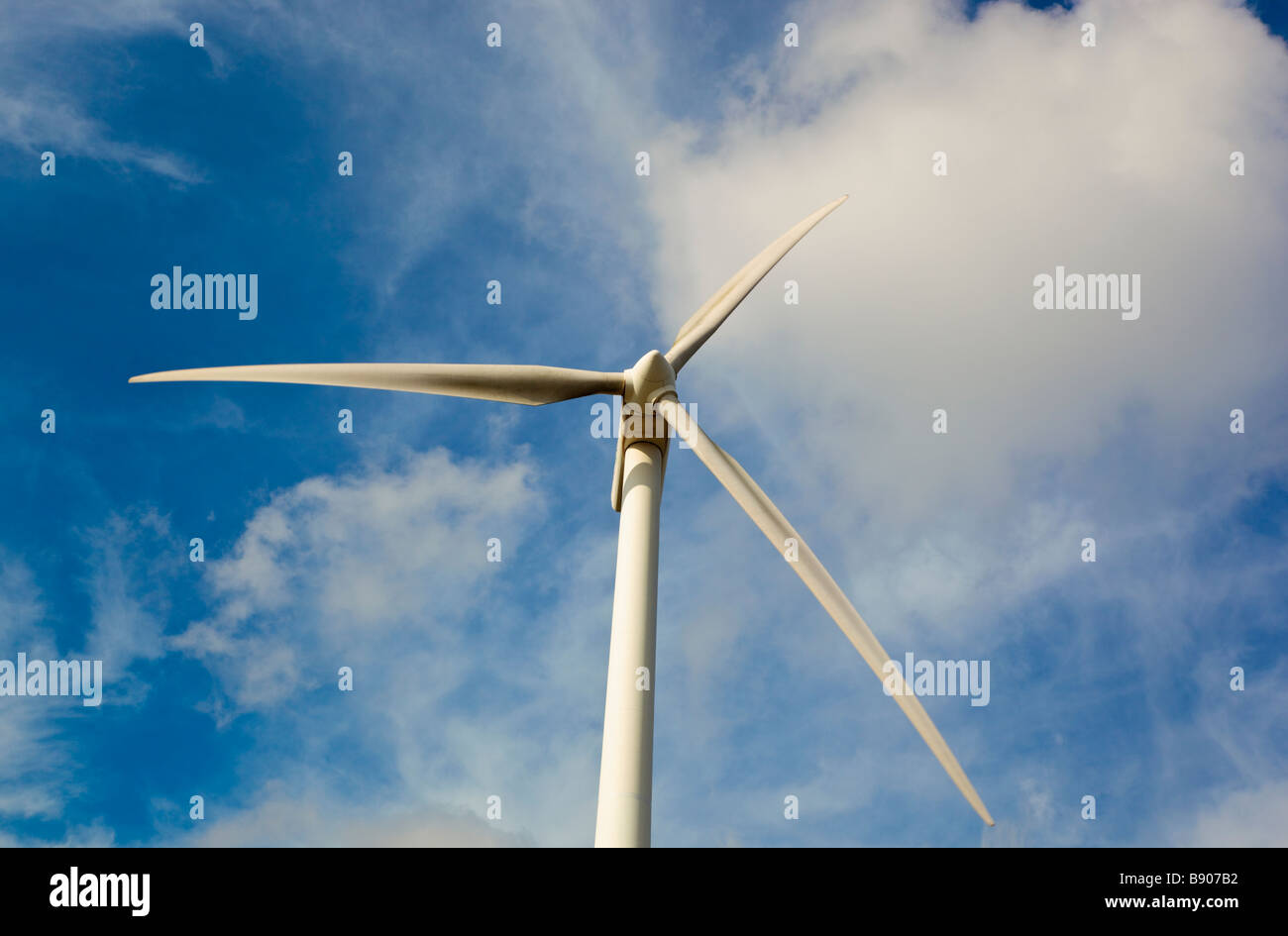 Wind mill near Tarifa Cadiz Province Spain - Stock Image