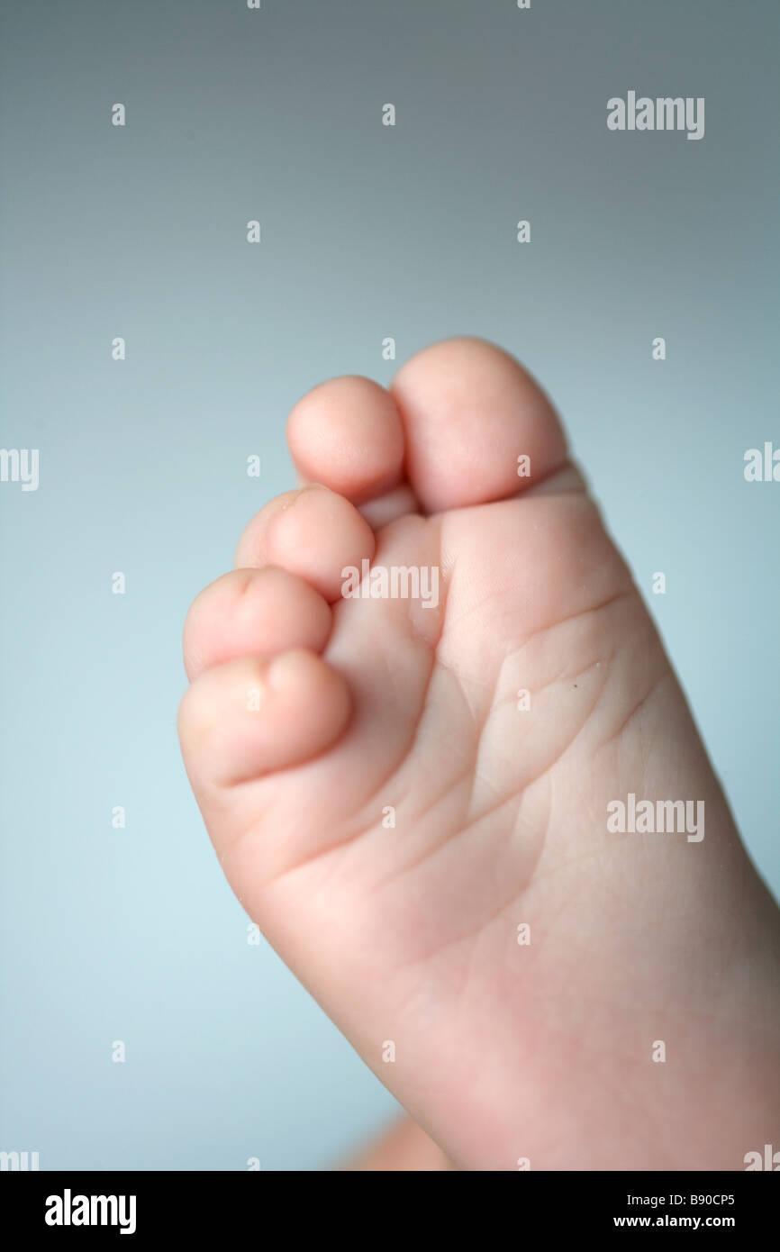 Baby foot close-up. - Stock Image