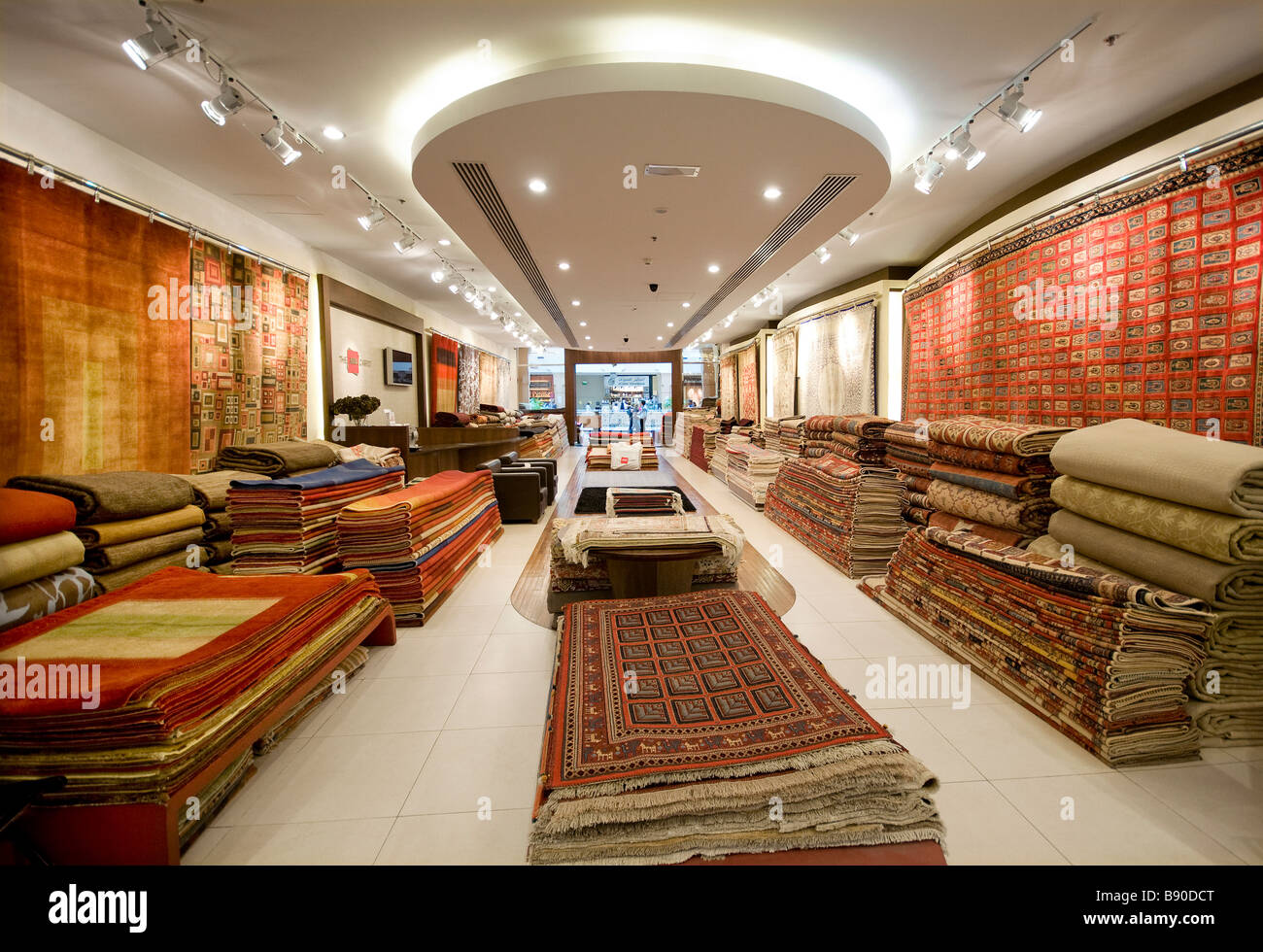 Rug And Carpet Store Shopping Mall Dubai Uae Stock Photo