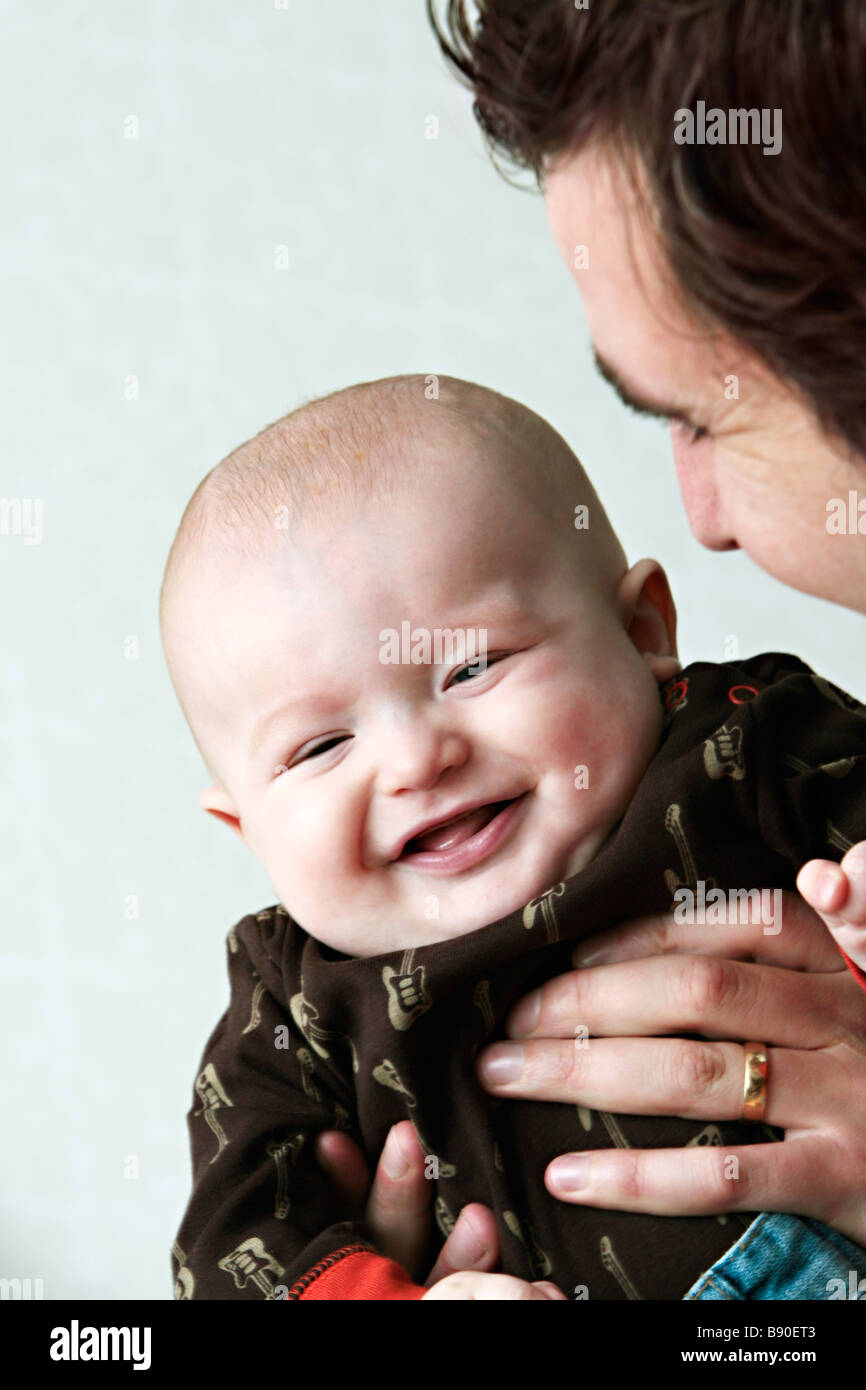 Father with baby. - Stock Image