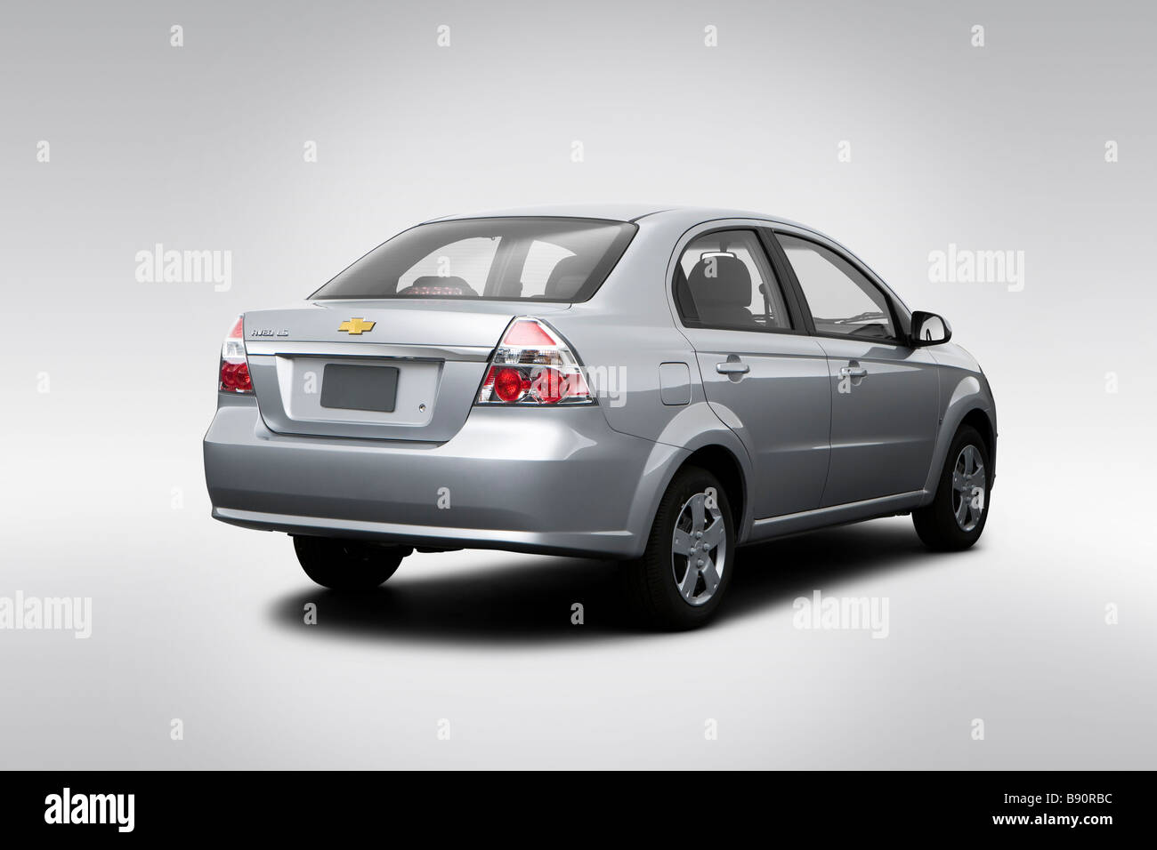 2009 Chevrolet Aveo Ls In Silver Rear Angle View Stock Photo Alamy