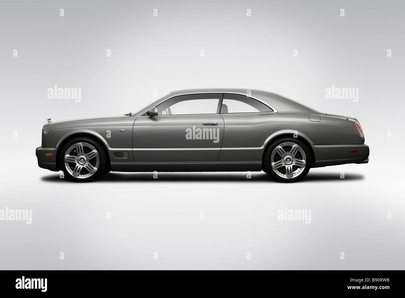2009 Bentley Brooklands in Gray - Drivers Side Profile - Stock Image